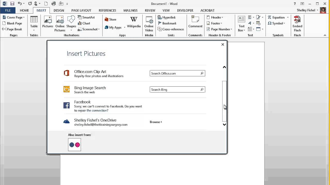 How to add clipart in Word 2013