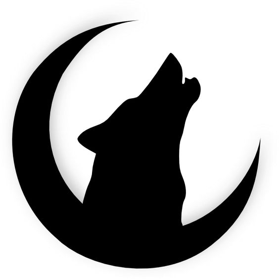 Howling Wolf Head Drawing | Wolf Howling With Moon clip art