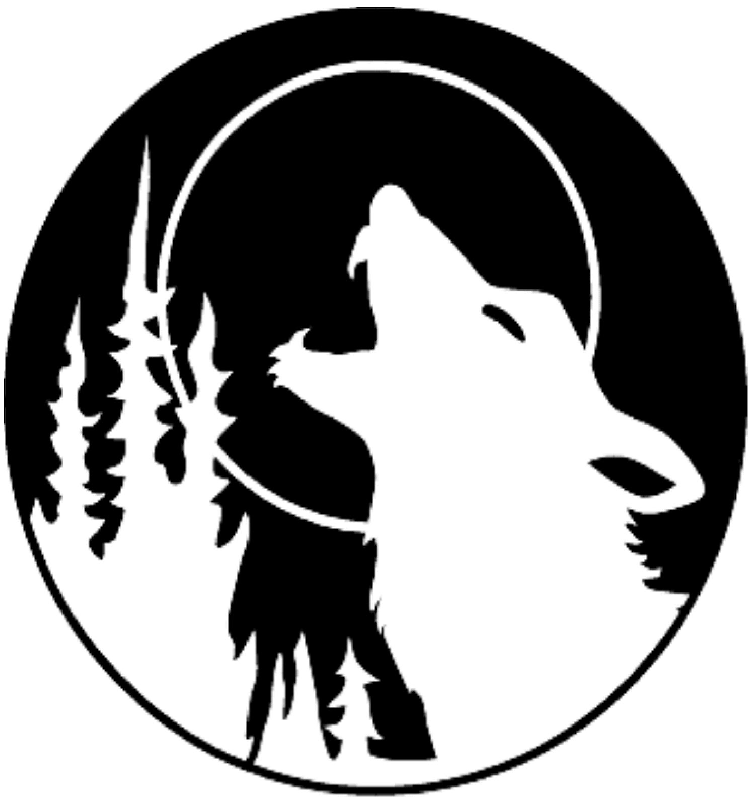 Howling Wolf Outline - Clipart .