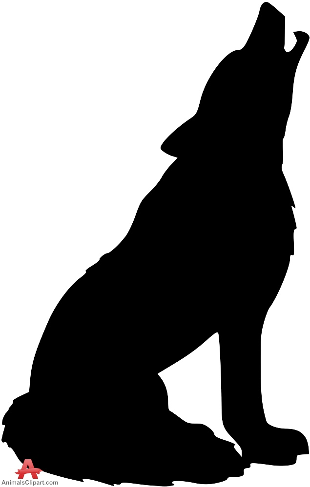 Howling Wolf Silhouette .