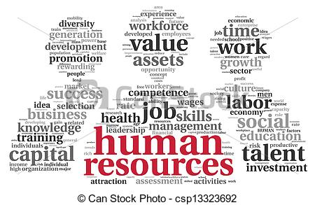 HR - human resources concept - .