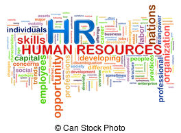 HR Human resources word tags  - Human Resources Clip Art