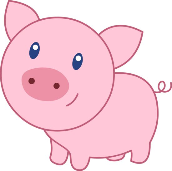 http://sweetclipart clipartall.com/cute-happy-pink-pig-1820 | CLIPART | Pinterest | Happy, Kittens and Search