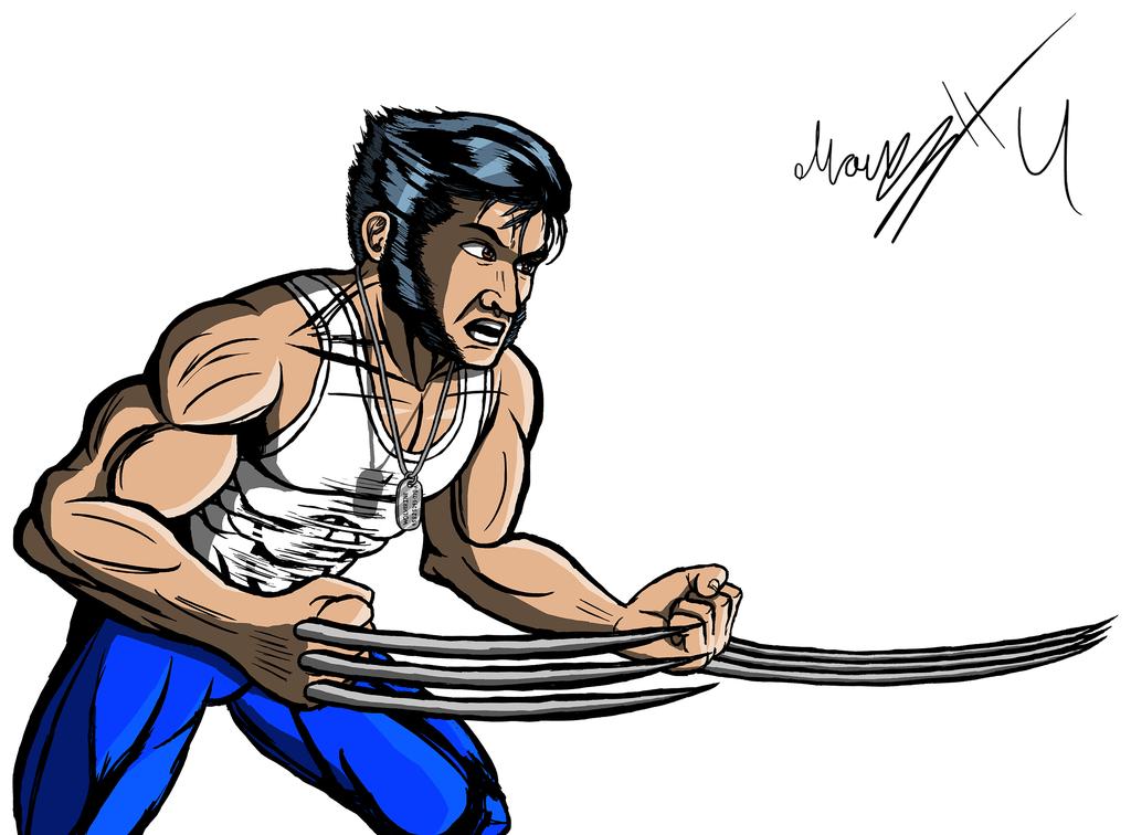Hugh Jackman As Wolverine / Logan Clip A-Hugh Jackman as Wolverine / Logan Clip Art by MarioUComics ClipartLook.com -7