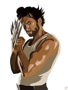 Wolverine Hugh Jackman Art / Painting #s-Wolverine Hugh Jackman art / painting #superhero #xmen #wolverine #sexy # hughjackman-18