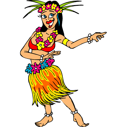 Hula Dancer Clipart .