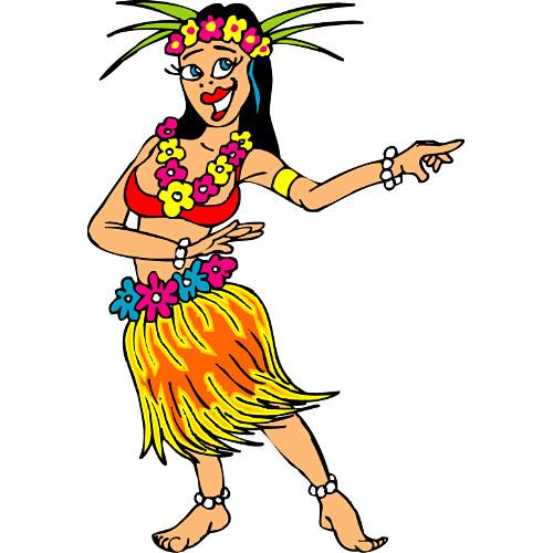 Hula Dancer Clipart .-Hula Dancer Clipart .-11
