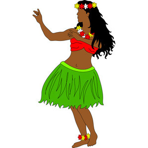 Hula Dancer Clipart Image .