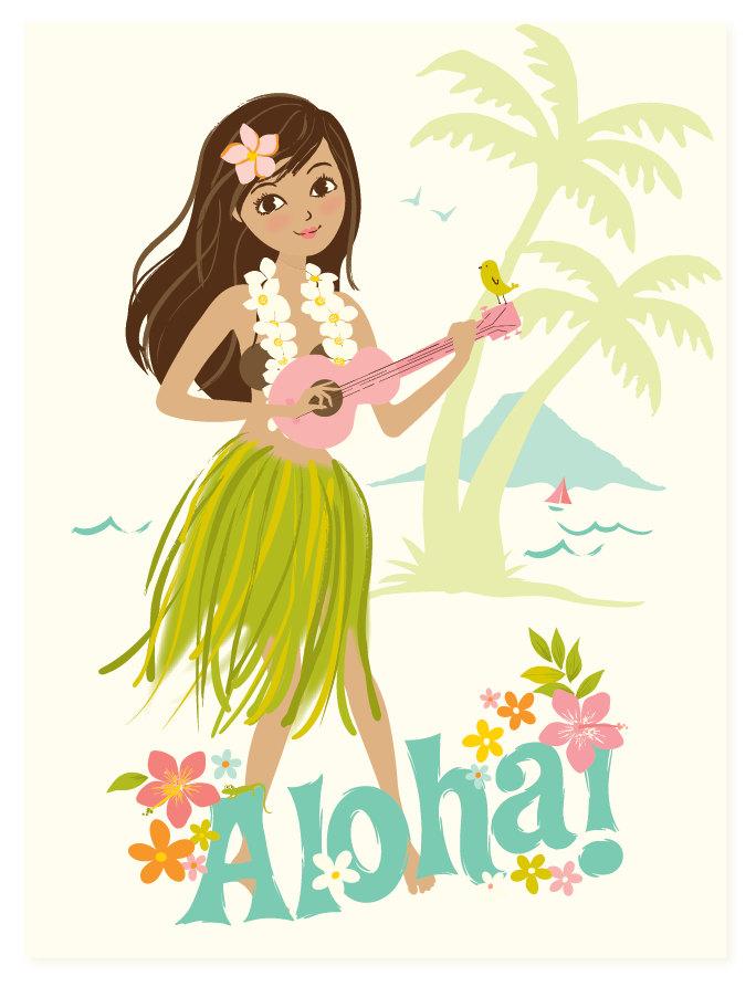 Hula Girl Clip Art