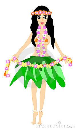 Hula Girl Stock Image Image 9185671