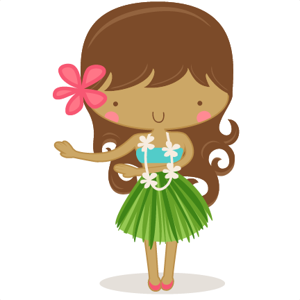 Hula Girl SVG scrapbook cut .
