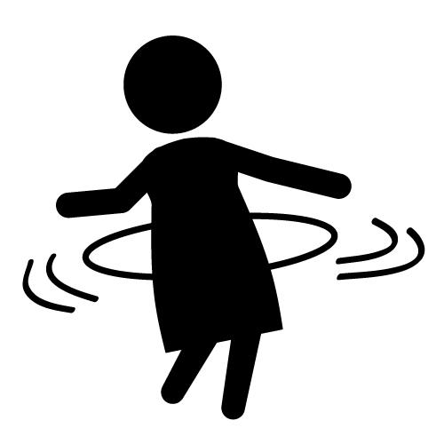 Hula-Hoop - Icon material - free. Clip Art ...