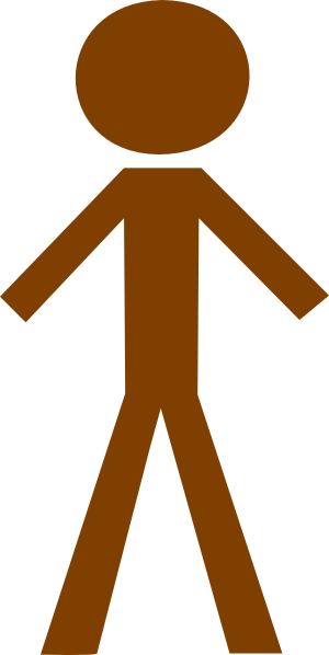 ... Human-brown Clip Art - vector clip art online .
