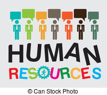 ... human resources over gray background vector illustration