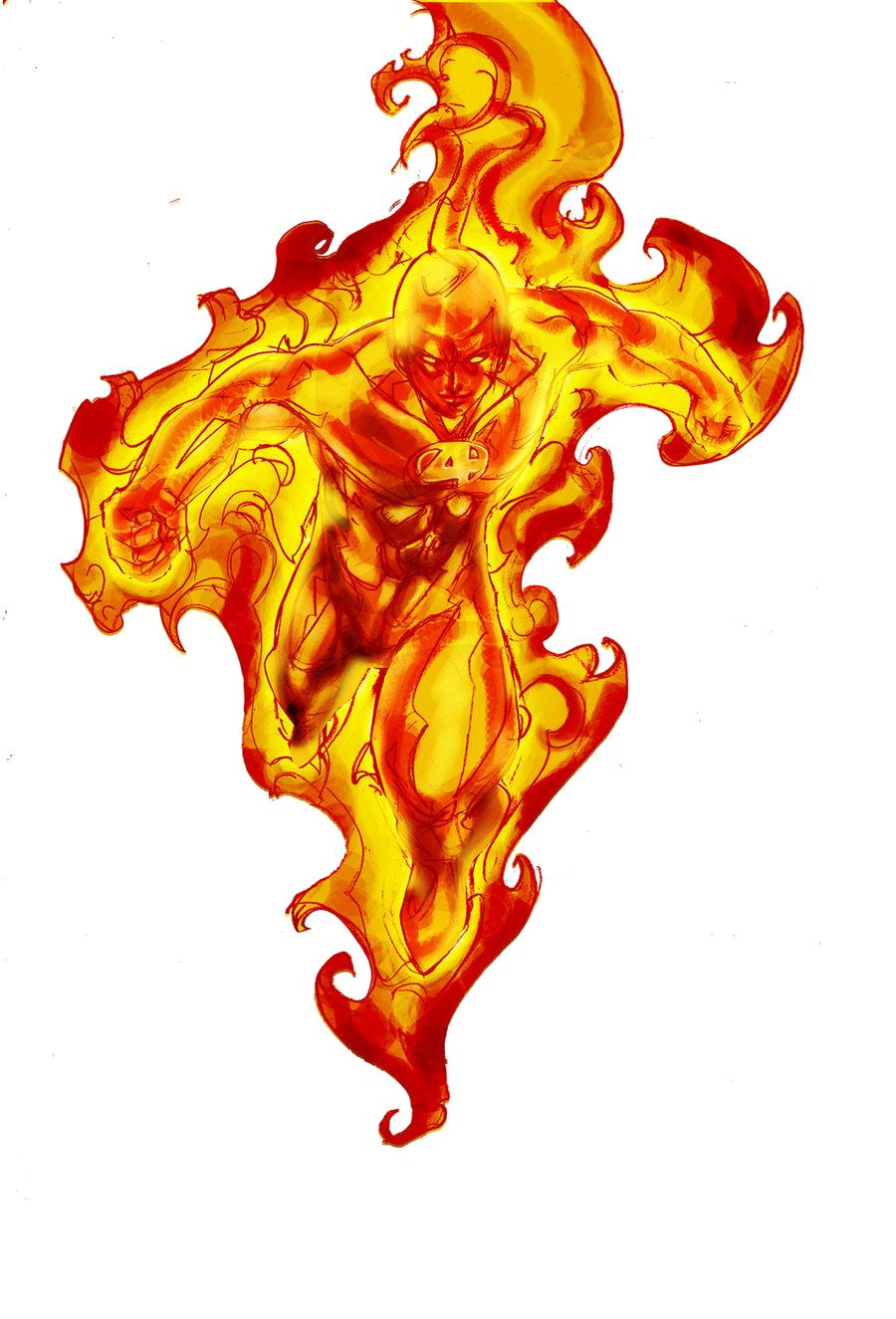 Human Torch Transparent PNG Image