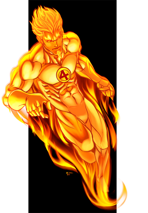 The Human Torch by ErikVonLeh - Human Torch Clipart