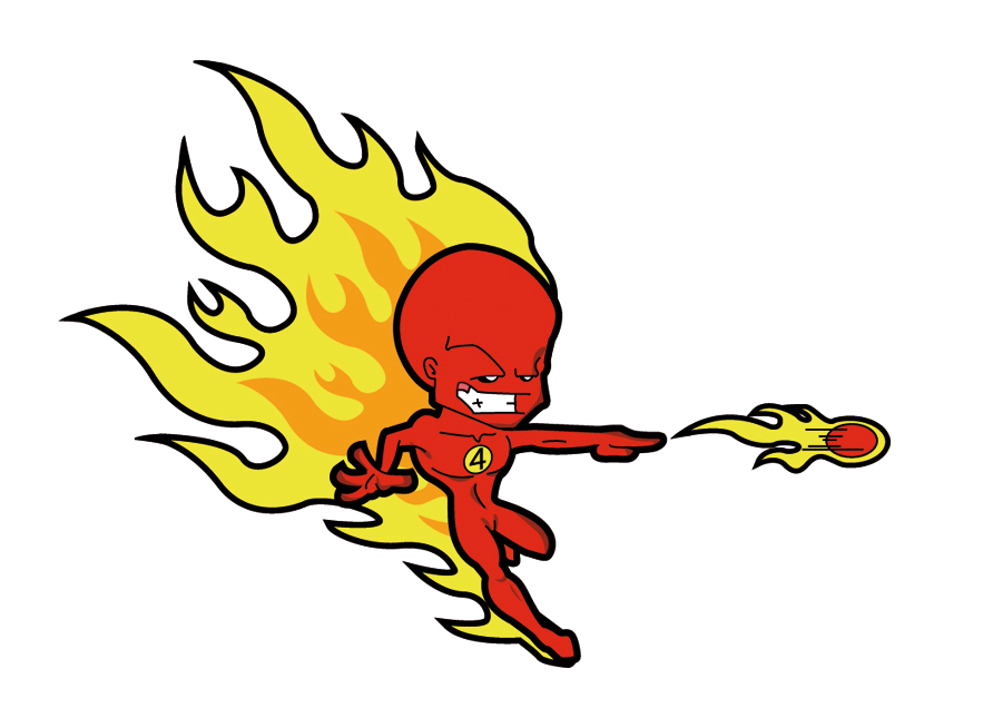 The Human Torch-Fireball by M - Human Torch Clipart