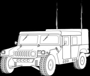 Hummer Outline Clip Art