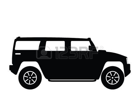 Silhouette big car, illustration