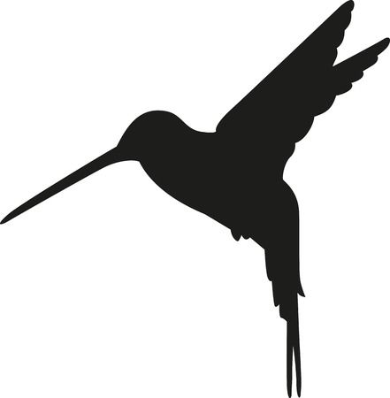 Hummingbird Silhouette Illustration-Hummingbird silhouette Illustration-16