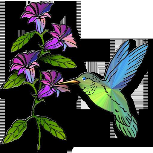 Hummingbird Flowers Clip Art  - Hummingbird Clip Art