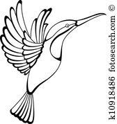 hummingbird tattoo - Hummingbird Clip Art