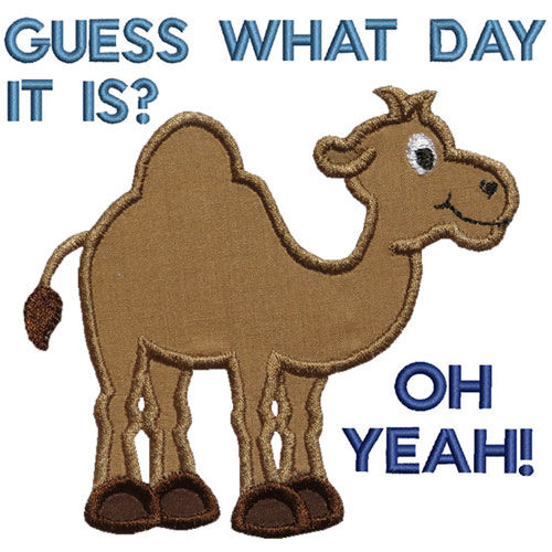 Hump Day Camel Applique Design-Hump Day Camel Applique Design-11