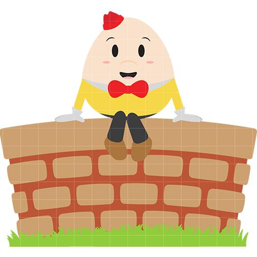 Humpty Dumpty Clip Art - Quarter Clipart