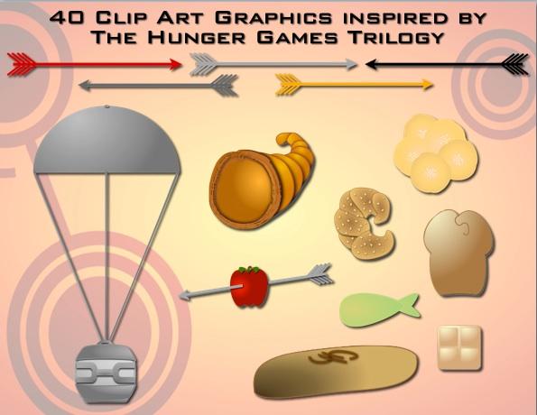 It Also Features Over 40 Clip Art Files,-It also features over 40 clip art files, including arrows, silver  parachute, golden cornucopia, Mr. Mellarku0027s cookies, district breads, apple  with an arrow ClipartLook.com -10