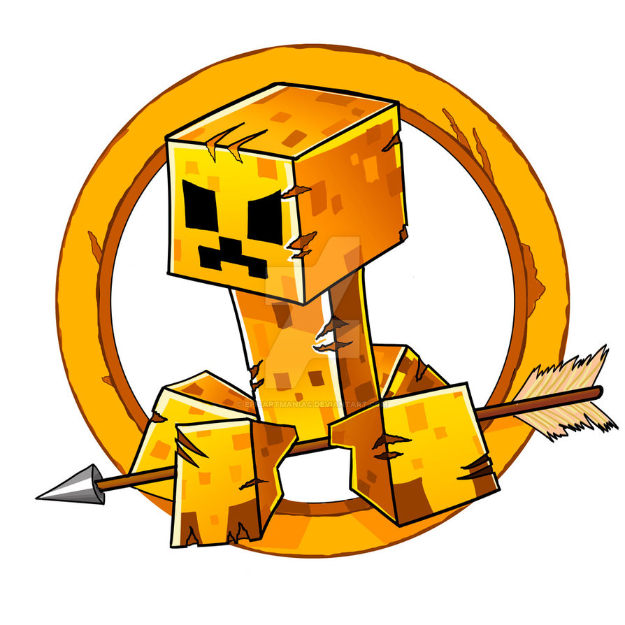Minecraft Hunger Games Logo b - Hunger Games Clipart