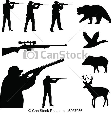 ... Hunting silhouettes - Hunting collec-... Hunting silhouettes - Hunting collection silhouettes -.-8
