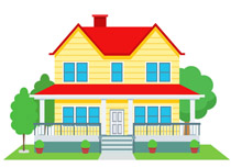 husband and wife dreaming the - Clip Art Of A House
