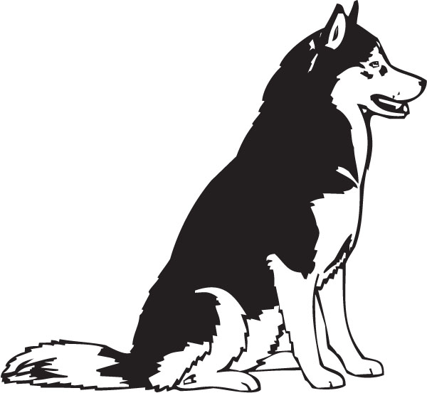 husky dog clip art Gallery