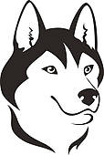 Husky Mascot Vector Graphic u0026middot; Husky dog