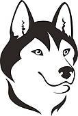 Husky Mascot Vector Graphic u0026middot;-Husky Mascot Vector Graphic u0026middot; Husky dog-17