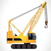 Hydraulic Crawler Crane u0026middot; detailed crane vector