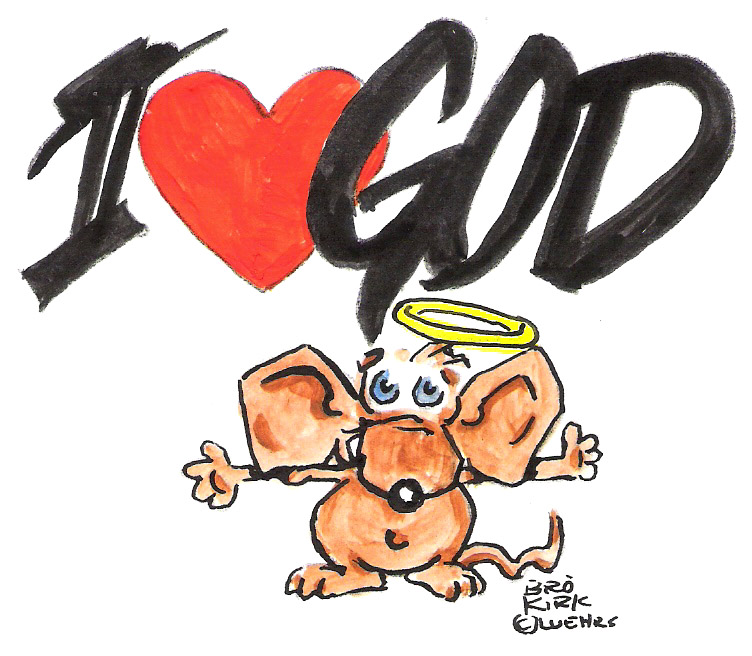 I Heart God Psalm 91 clip art .