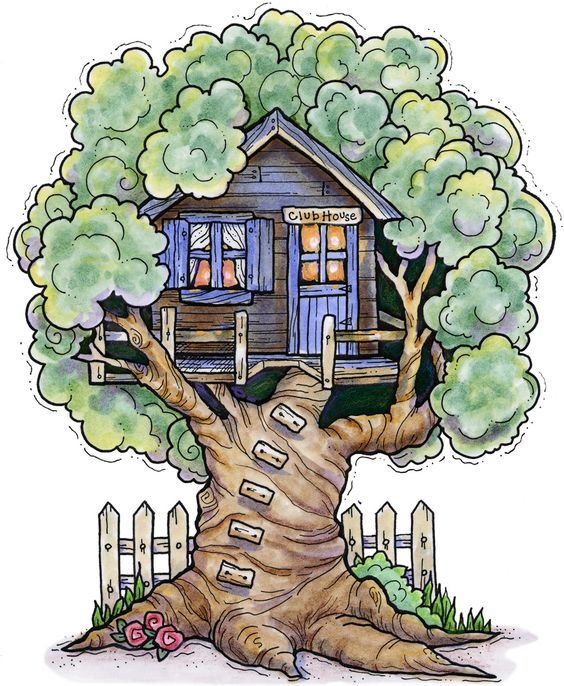 I like this tree house clip .