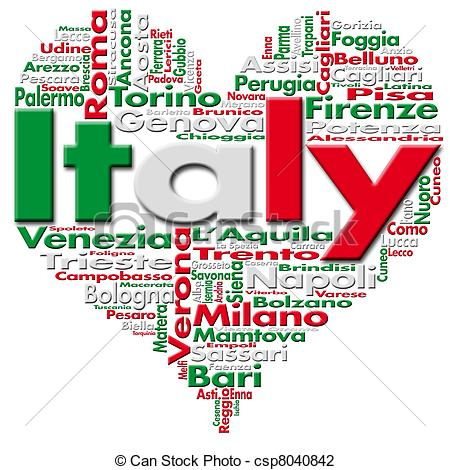 ... I Love Italy - Written Italy and Italian cities with... I Love Italy Clip Artby ...