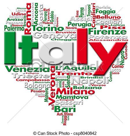 ... I Love Italy - Written Italy And Ita-... I Love Italy - Written Italy and Italian cities with.-1