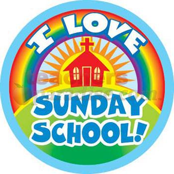 I Love Sunday School Clipart.