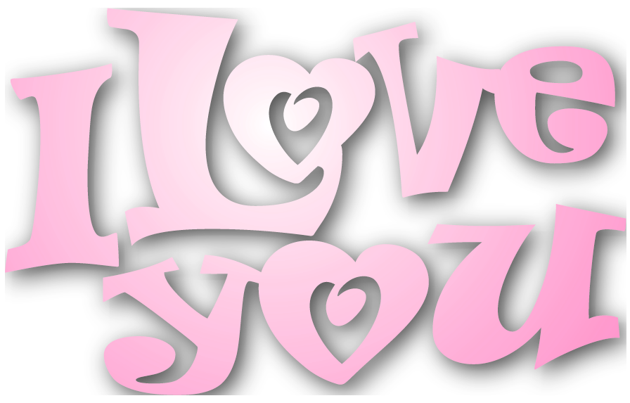 I love you clipart - .