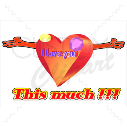 I Love You This Much Clipart  - I Love You Clipart Animated
