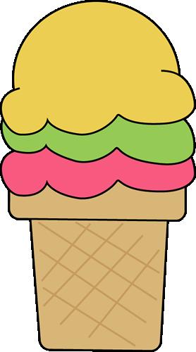 Ice Cream Cone For I Clip Art Image Colorful Ice Cream Cone For The