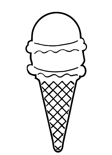 Ice Cream Cone Outline Clip Art At Clker-Ice Cream Cone Outline Clip Art At Clker Com Vector Clip Art Online-12
