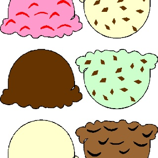 Ice cream scoop printable .