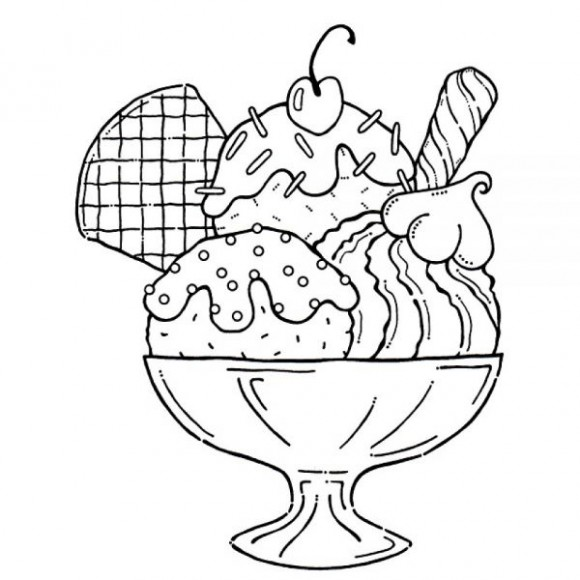 Ice Cream Sundae Clip Art Black And Whit-Ice Cream Sundae Clip Art Black And White Funny Pics-14