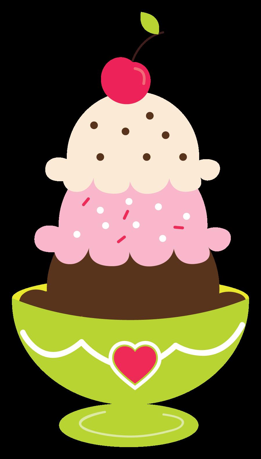 Ice cream sundae clipart kid