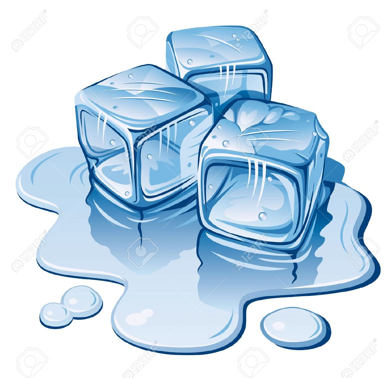 Ice Cube Clipart #1