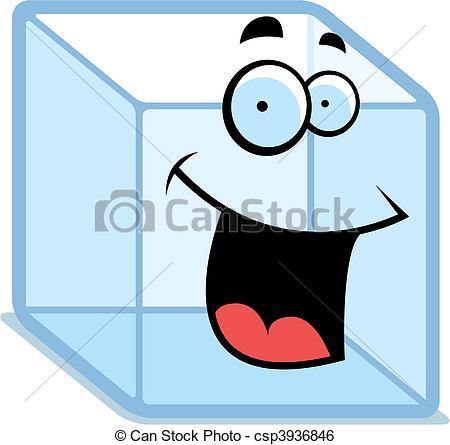 ... Ice Cube Smiling - A cartoon ice cub-... Ice Cube Smiling - A cartoon ice cube happy and smiling.-16